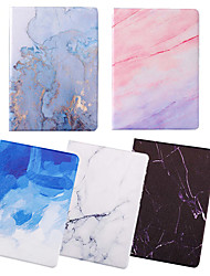 cheap -Case For Apple iPad 2/3 /4 / Air/Air 2/ mini 1 / 2 / 3/ mini 4 /mini 5/ iPad(2018)/iPad(2017) Dustproof / with Stand / Pattern Full Body Cases Marble PU Leather / TPU
