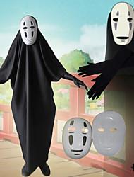 Недорогие -Вдохновлен Унесенные призраками Не лицо человека Аниме Косплэй костюмы Японский Косплей Костюмы трико / Комбинезон-пижама Перчатки Маски Назначение Муж.