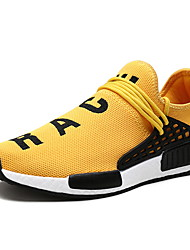 cheap -Men's Comfort Shoes Mesh Spring & Summer Sporty / Casual Athletic Shoes Running Shoes Breathable Black / Yellow / Blue / Shock Absorbing