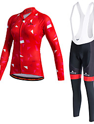 cheap -Miloto Women's Long Sleeve Cycling Jersey Winter Fleece Polyester Purple Orange Yellow Bike Clothing Suit Thermal / Warm Fleece Lining Quick Dry Reflective Strips Sweat-wicking Sports Sports Mountain