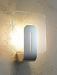cheap -Square Wall Lamp Modern Creative Wall Sconces with Clear Glass ShadeG9 Light for Corridor Kid's Room
