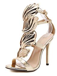 cheap -Women's Sandals Stiletto Heel Peep Toe Synthetics Sweet / British Summer / Spring & Summer Black / Light Pink / Gold / Party & Evening