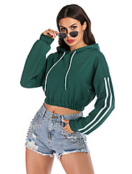 cheap -Women's Basic / Street chic Hoodie - Solid Colored Green S