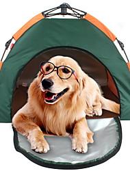 Недорогие -Палатка для домашних животных На открытом воздухе Легкость С защитой от ветра Дожденепроницаемый Палатка 2000-3000 mm для Походы / туризм / спелеология 100% полиэстер 80*80*60 cm