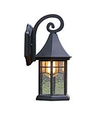 Недорогие -кантри фонарь бра фонарь водонепроницаемый наружные настенные светильники наружный / сад металлический настенный светильник ip 65 наружные настенные светильники