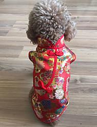 Недорогие -Кошка Собака Плащи Одежда для собак Смешанные материалы Костюм Назначение Зима