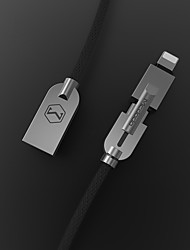 cheap -MCDODO 1.2m 2-in-1 Micro USB & Lightning 8pin Data Sync Charging Cable