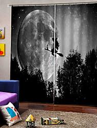 cheap -Elegant Design High Definition Indelible Gray Sky Curtains 3D Digital Printing Blackout Fabric Curtain