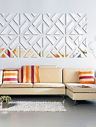 cheap -Shapes Wall Stickers Mirror Wall Stickers Decorative Wall Stickers, Acrylic Home Decoration Wall Decal Wall Decoration 1pc / Re-Positionable