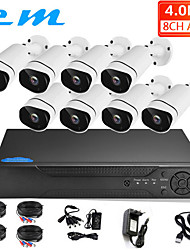 cheap -4 Million AHD Coaxial HD Camera 8 Channel DVR Hard Disk Recorder Monitoring System Set Mobile Phone