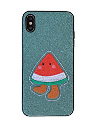 cheap -Case For Apple Applicable to XS Max Watermelon Cartoon 6Plus/7Plus/8Plus Anti-sweat XR/X Soft Wool Fabric 6/7/8 Anti-fall Mobile Shell