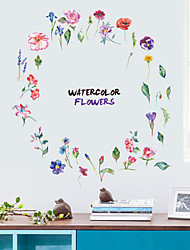 cheap -Fashion Colored Flowers Wall Stickers - Animal Wall Stickers Animals / Landscape Study Room / Office / Dining Room / Kitchen