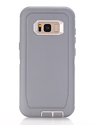 cheap -Phone Case For Samsung Galaxy Back Cover S8 Shockproof Solid Color Silicone Silica Gel
