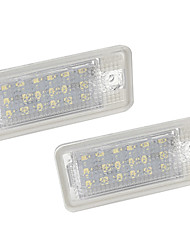 cheap -2pcs/set Led Number License Plate Light Led Bulb for Audi A3/A4/A6/A8/RS4/RS6