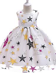 cheap -Toddler Girls' Active Geometric Print Sleeveless Knee-length Dress Black
