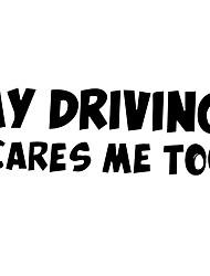 Недорогие -машина светоотражающая наклейка мое вождение меня тоже пугает буквы предупреждающие наклейки-черный