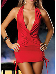 cheap -Women's Backless Sexy Nightwear Solid Colored Black White Red One-Size / Halter Neck