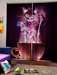 Недорогие -простой современный мультфильм шторы счастливый хэллоуин тема волшебный кубок занавес 100% полиэстер затемнения окна занавес ткани