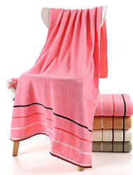 cheap -Superior Quality Bath Towel, Lines / Waves / Striped / Solid Colored 100% Cotton 1 pcs