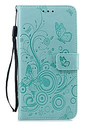 cheap -Case For Apple iPhone XS / iPhone XR / iPhone XS Max Wallet / Card Holder / Shockproof Full Body Cases Solid Colored / Butterfly PU Leather For iPhone X/7/8 Plus/6/6s Plus/5/5s/SE