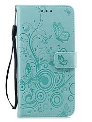 Недорогие -чехол для apple iphone xs / iphone xr / iphone xs max кошелек / держатель карты / противоударный чехол для всего тела сплошной цвет / бабочка искусственная кожа для iphone x / 7/8 plus / 6 / 6s plus /