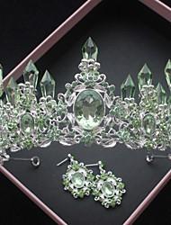 cheap -Alloy Tiaras with Rhinestone 1 Piece Wedding / Special Occasion Headpiece