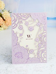 "cheap -Wrap & Pocket Wedding Invitations 30pcs - Invitation Cards / Thank You Cards / Invitation Sample Artistic Style / Modern Style / Fairytale Theme Pearl Paper 5""×7 ¼"" (12.7*18.4cm)"