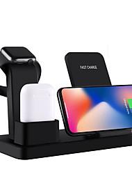 abordables -10w qi stand chargeur sans fil pour iphone x 7 8 3 en 1 chargeur rapide charge rapide pour apple watch base de charge rapide sans fil