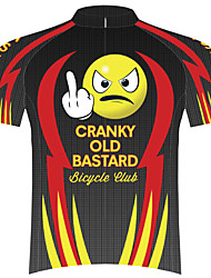 cheap -21Grams Novelty Funny Men's Short Sleeve Cycling Jersey - Black / Yellow Bike Top UV Resistant Breathable Moisture Wicking Sports Terylene Mountain Bike MTB Road Bike Cycling Clothing Apparel