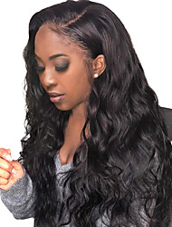 cheap -Human Hair Full Lace Wig Side Part style Brazilian Hair Natural Wave Black Wig 130% Density Women Women's Long Human Hair Lace Wig Clytie