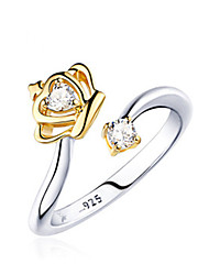 cheap -Women's Ring 1pc Gold Silver Silver Circular Basic Korean Fashion Festival Jewelry Crown Lovely