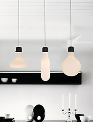 cheap -1-Light Pendant Lamp Modern Simplicity Chandeliers White Glass Shade American Industrial Ceiling Lamps Pendant Wire Adjustable for Living Room