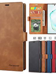 Недорогие -Роскошный чехол для Samsung Galaxy Note 10 плюс Galaxy Note 10 Galaxy Note 9 телефон чехол кожаный флип кошелек магнитный чехол с картой