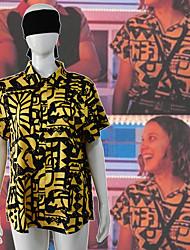 cheap -Stranger Things Movie / TV Theme Costumes Blouse / Shirt Men's Women's Movie Cosplay Leisure Neutral Yellow Blouse Headpiece Halloween Artificial Silk