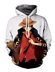 cheap -One Piece Cosplay Hoodie Terylene Character For Men's / Women's
