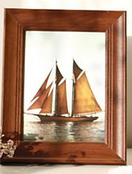 Недорогие -Современный современный деревянный Окрашенные отделки Рамки для картин Настенные украшения, 1шт Рамки для картин