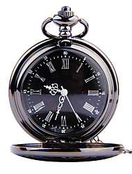 cheap -Men's Pocket Watch Quartz Vintage Style Casual Watch Cool Analog Vintage - Black