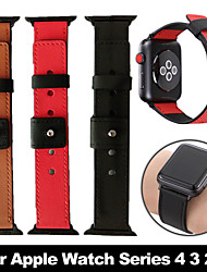 cheap -3 Color Hot Sell Leather Watchband For Apple Watch Band Series 5/4/3/2/1 Sport Bracelet 44mm/40mm/42mm/38mm Strap