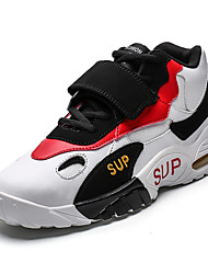 cheap -Men's Comfort Shoes Faux Leather Summer Sporty / Casual Basketball Shoes Running Shoes / Walking Shoes Breathable Black / White / Red / Non-slipping