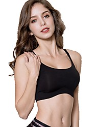 cheap -Women's Racerback Lace Bras Sports Bras Full Coverage Bras Solid Colored Black Blushing Pink Silver