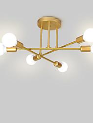 cheap -6-Light Sputnik / Linear / Geometrical Flush Mount Lights Ambient Light Painted Finishes Metal Matte, Creative, New Design 110-120V / 220-240V