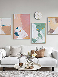 cheap -Framed Canvas - Abstract PS Oil Painting Wall Art