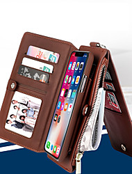 cheap -MUSUBO Flip Leather Phone Case for Apple iPhone 7 Plus/iPhone 8 Plus/iPhone XS/iPhone X/iPhone 6/6S/iPhone XR/iPhone XS MAX  Multi-function Wallet Separable Shell for iPhone 5/5s/se/8/7/6 PLUS/6s PLUS
