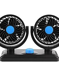 cheap -12V 360 grados todo-redondo ajustable Auto ventilador de refrigeracin aire doble cabeza coche de bajo ruido accesorios del ventilador del coche del ventilador del aire del refrigerador del coche
