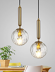 cheap -35 cm Single Design Pendant Light Glass Antique Brass Traditional / Classic Nordic Style 220-240V