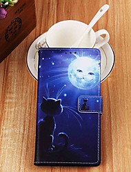 cheap -Case For Apple iPhone XR / iPhone XS Max Wallet / Card Holder / with Stand Full Body Cases Cat and Sun PU Leather for iPhone 6s / 6s Plus / 7 / 7 Plus / 8 / 8 Plus / X / Xs