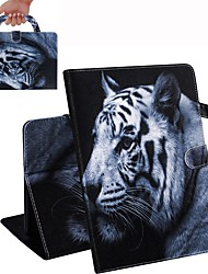 cheap -Case For iPad Air / iPad 4/3/2 / iPad (2018) Wallet / Card Holder / Shockproof Full Body Cases Tiger PU Leather Case For iPad Air 2 / iPad (2017) / iPad Pro 9.7