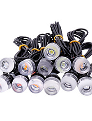 cheap -10pcs/lot New 18mm 5630 chips 3 LED DRL Eagle Eyes Daytime Runing Lights Warning Fog lights with Parking signal lamp Car styling 12v