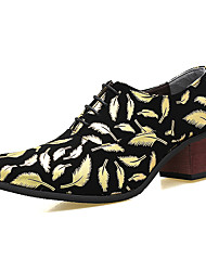 cheap -Men's Formal Shoes Leather Spring / Fall Business / British Oxfords Walking Shoes Non-slipping Black / Gold / Red / Wedding / Party & Evening / Party & Evening / Printed Oxfords / Dress Shoes