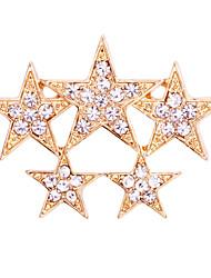 abordables -Homme Zircon Broche Stardust Etoile Luxe Basique Tendance Mode Broche Bijoux Dorée Argent Pour Mariage Soirée Quotidien Travail